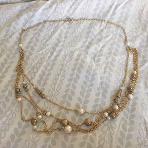 Jewelry - 🦄 Gold Tone Art Nouveau Style Faux Pearl Necklace